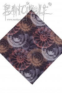 "Bandana ""Vintage Flowers"" made of organic cotton"